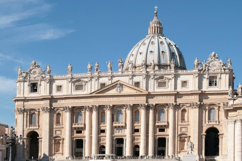 St. Peter basilica - Facade stock images