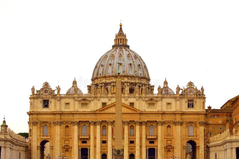 St Peter Basilica voorgevel Vatikaan Rome royalty-vrije stock foto's
