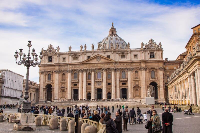St Peter Basilika in der Vatikanstadt in Rom, Italien. lizenzfreies stockfoto