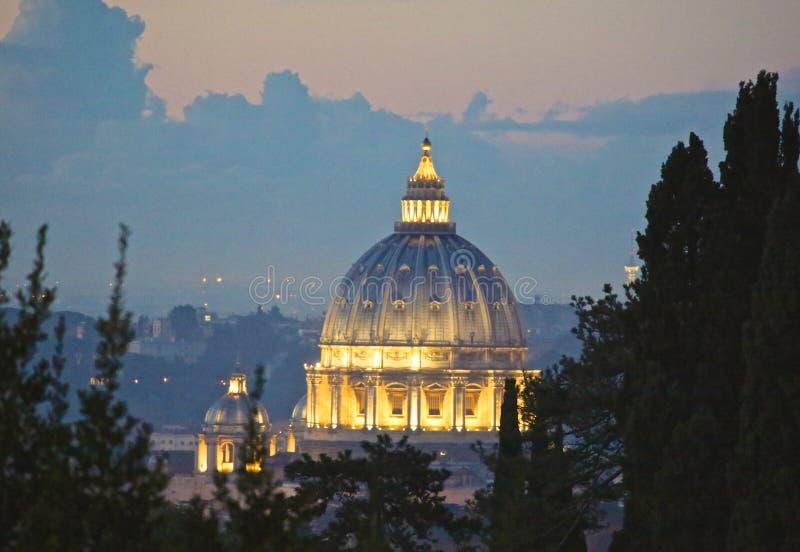 St Peter bazyliki watykan Rzym Włochy obrazy royalty free