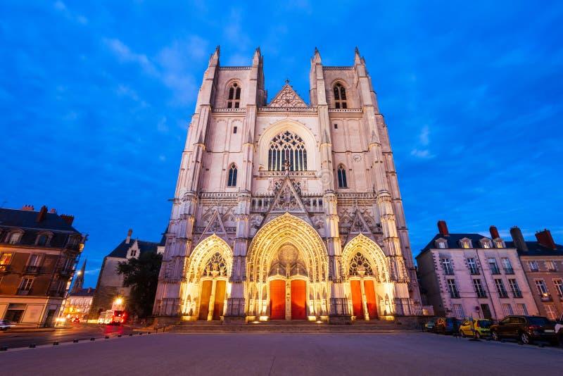 St Peter Cathedral a Nantes fotografie stock libere da diritti