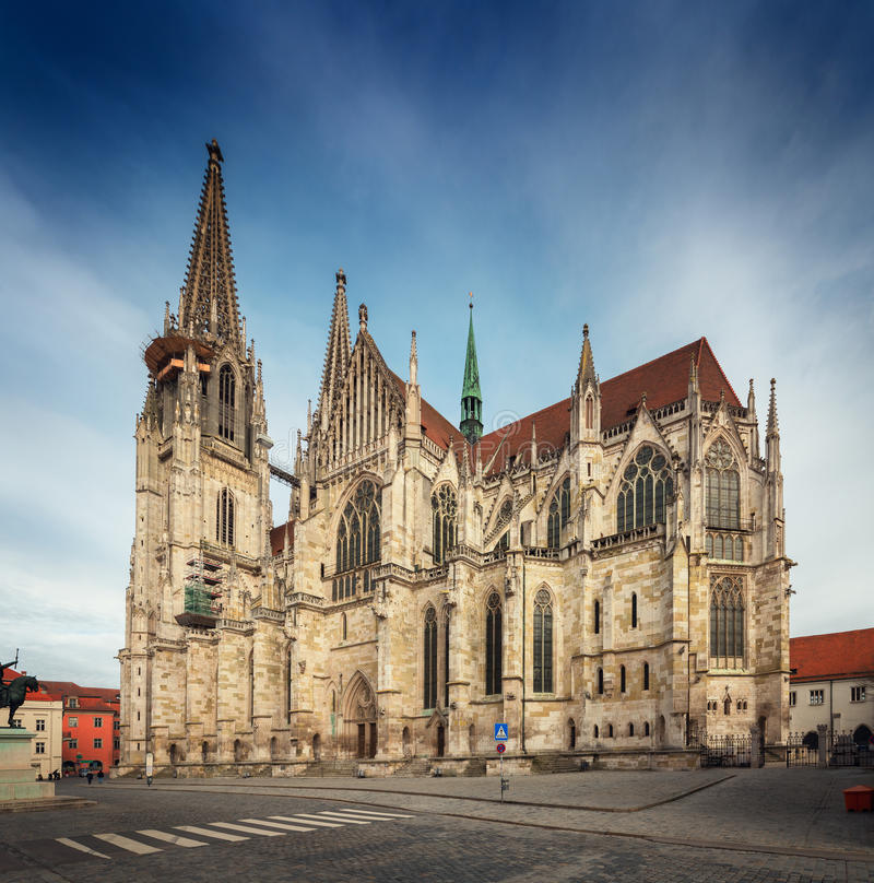 St Peter Cathedral, Regensburg, Germania fotografia stock