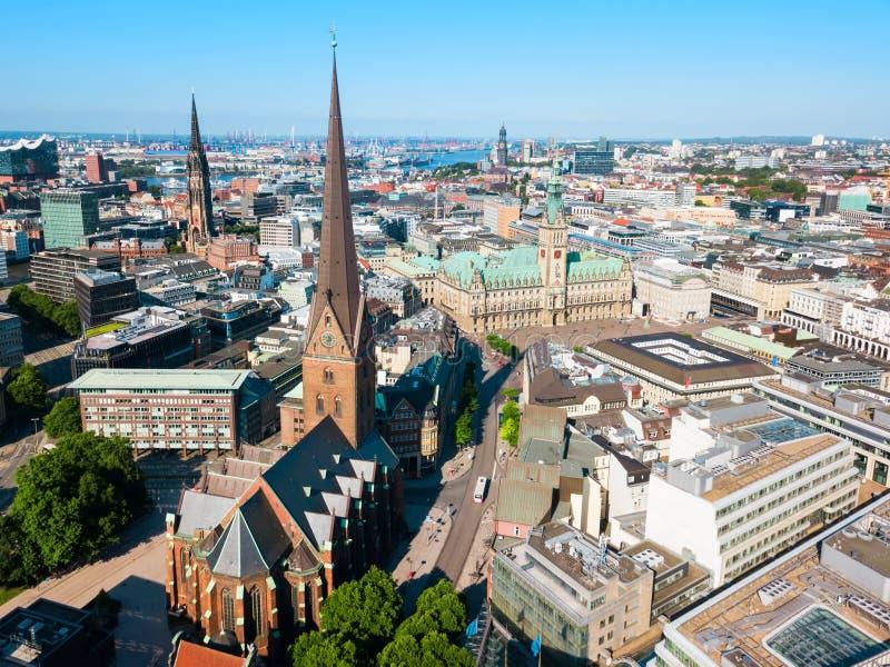 St Peter Church en Hamburgo imagen de archivo libre de regalías
