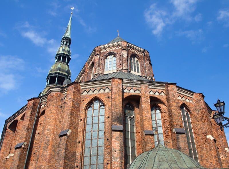 St. Peter Church, Riga stock foto's