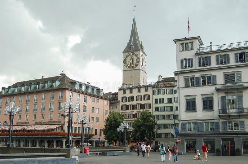 St Peter Church - Zürich stock fotografie