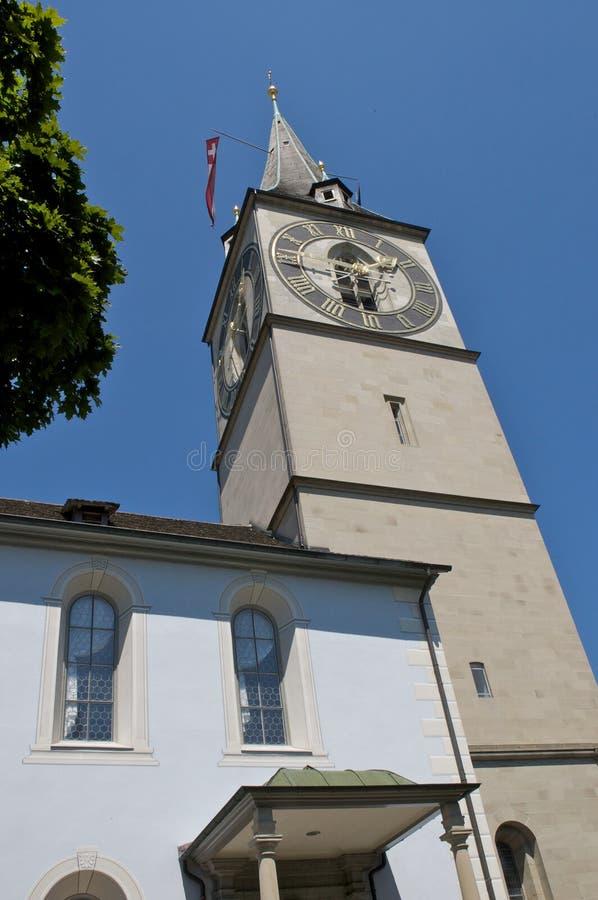 St Peter church Zurich stock image
