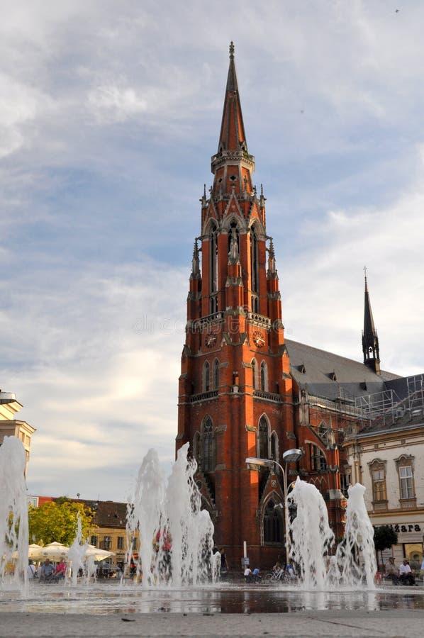 St Peter e Paul Cathedral em Osijek, Croácia imagem de stock