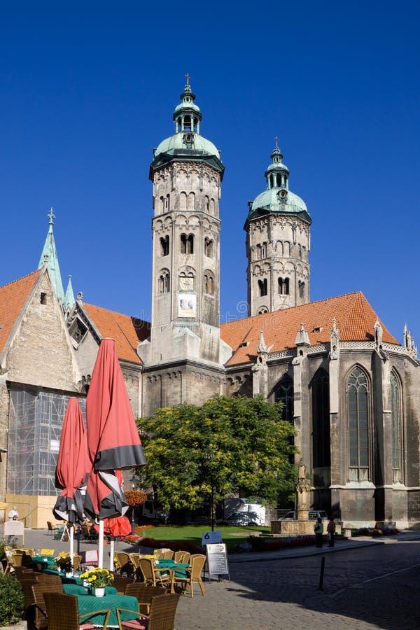 St Peter e Paul Cathedral nella città di Naumburg, Sassonia-Anhalt, GE immagine stock libera da diritti