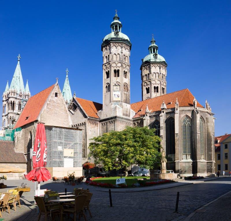 St Peter e Paul Cathedral nella città di Naumburg, Sassonia-Anhalt, Germania fotografia stock