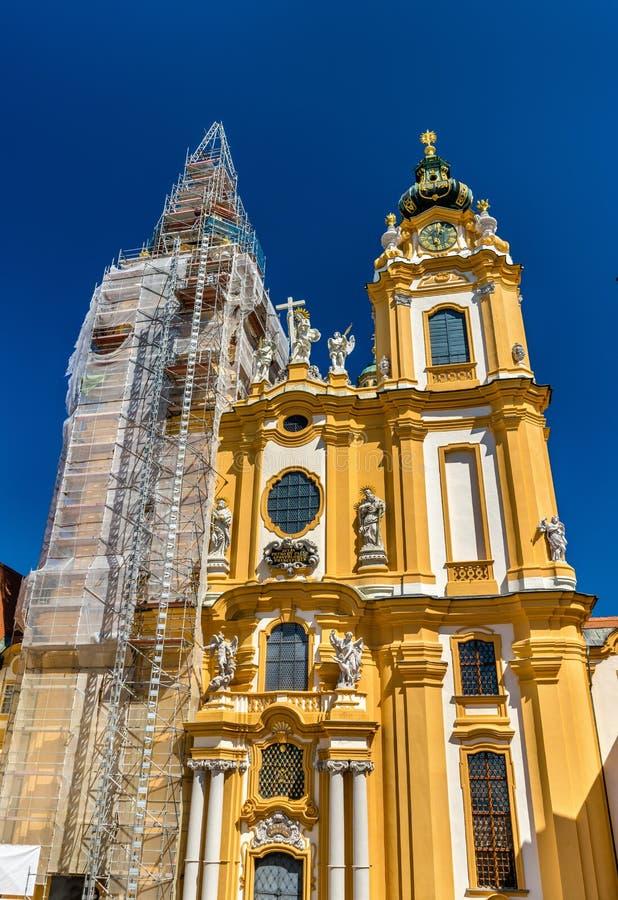 St Peter e Paul Church all'abbazia di Melk in Austria fotografia stock libera da diritti