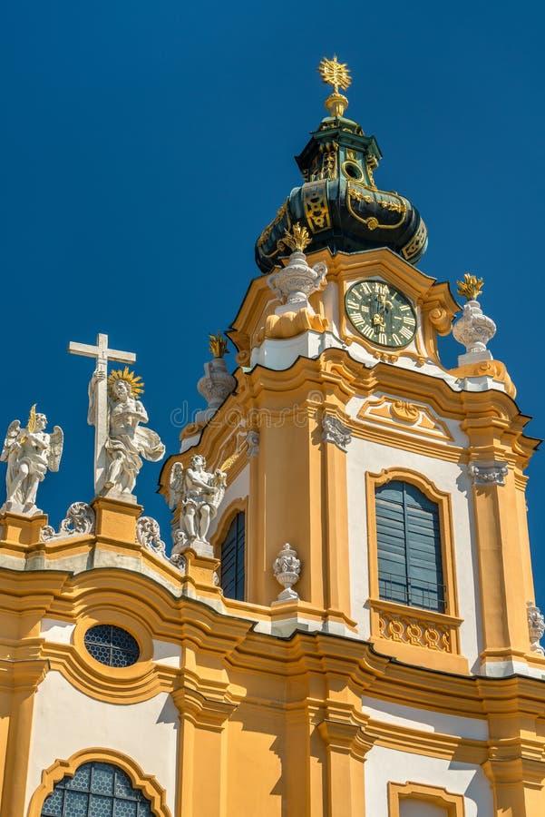 St Peter e Paul Church all'abbazia di Melk in Austria fotografie stock libere da diritti