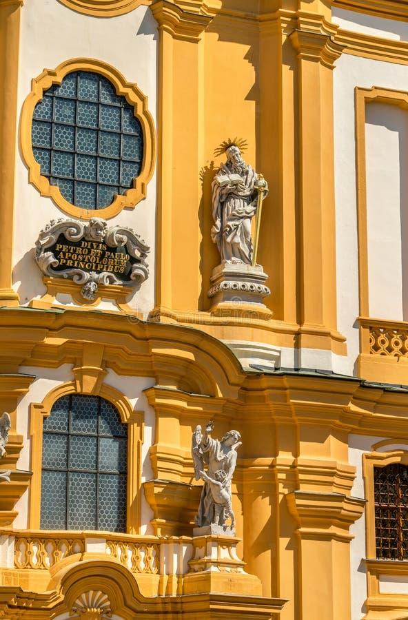 St Peter e Paul Church all'abbazia di Melk in Austria immagini stock