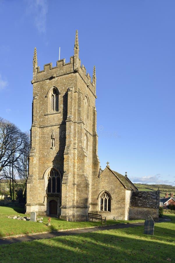 St Peter e st Paul Church, Charlton Horethorne fotografia stock libera da diritti