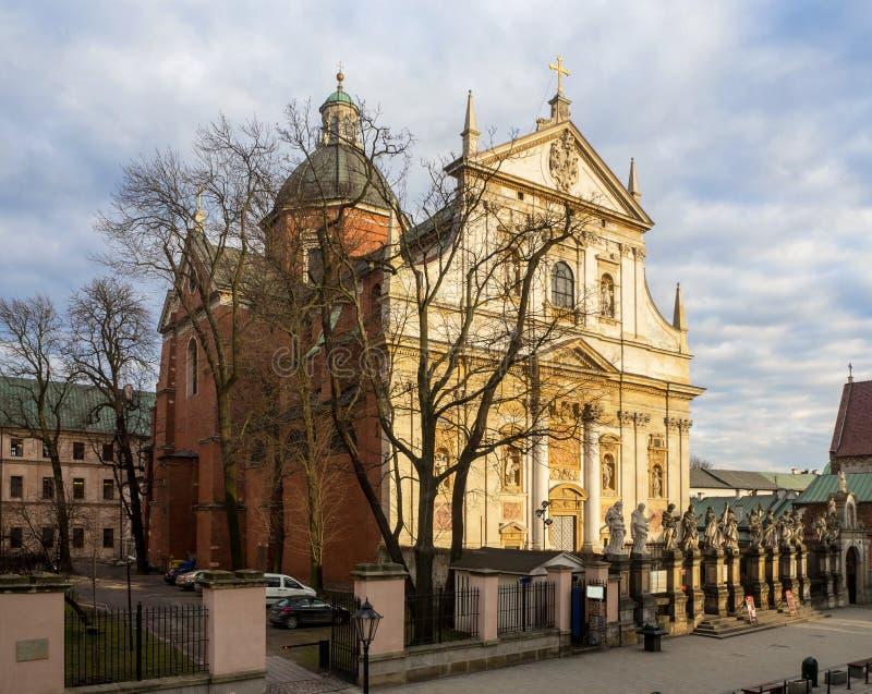 St Peter e Paul Church a Cracovia, Polonia fotografia stock libera da diritti