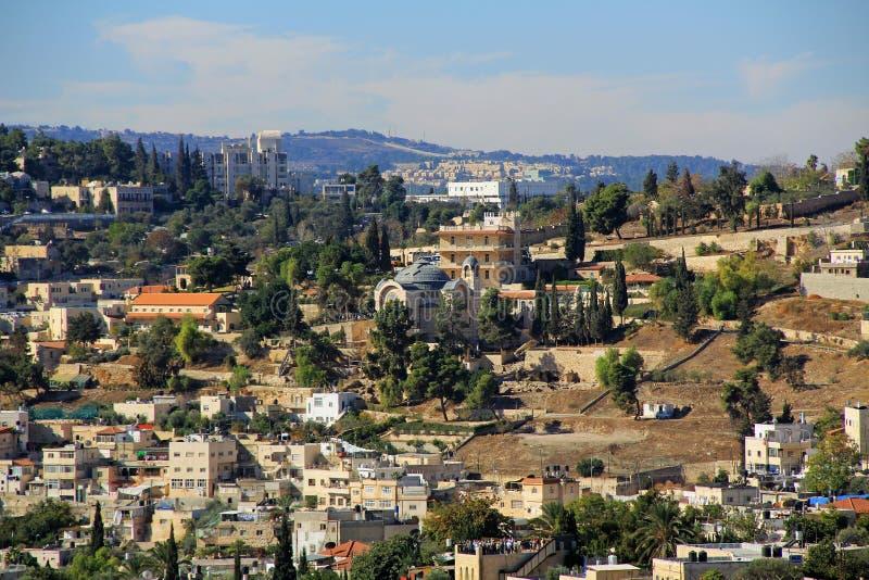 St Peter em Gallicantu na cidade do Jerusalém imagem de stock
