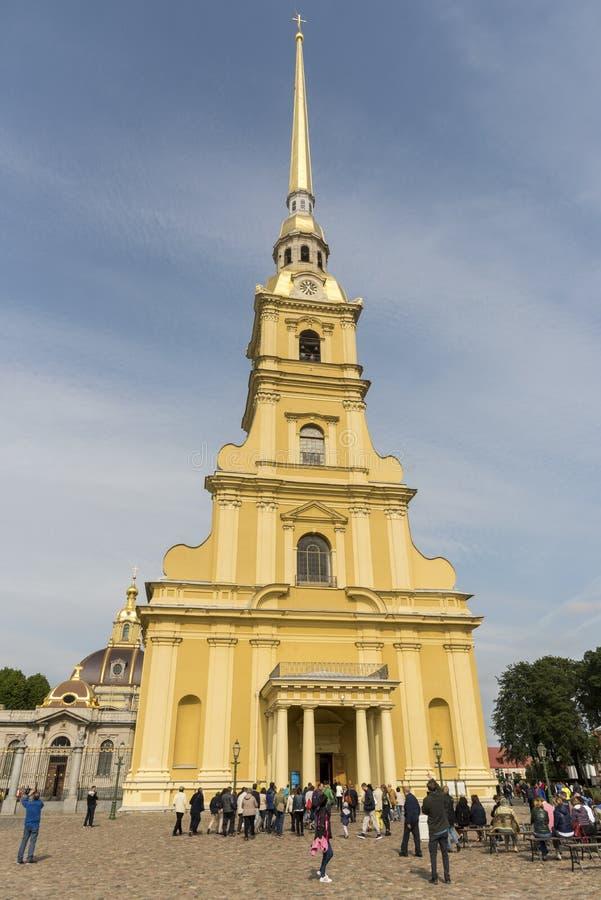 St Peter en Paul Cathedral Saint Petersburg, Rusland stock foto