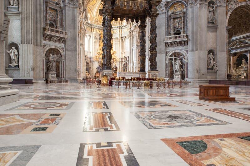 St Peter et x27 ; basilique de s - Ville du Vatican, Rome, Italie image libre de droits