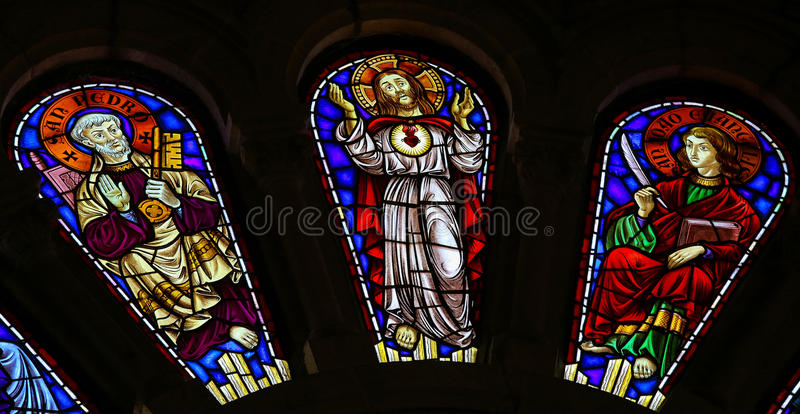 St Peter, Jesus Christ und Johannes der Evangelist lizenzfreies stockfoto