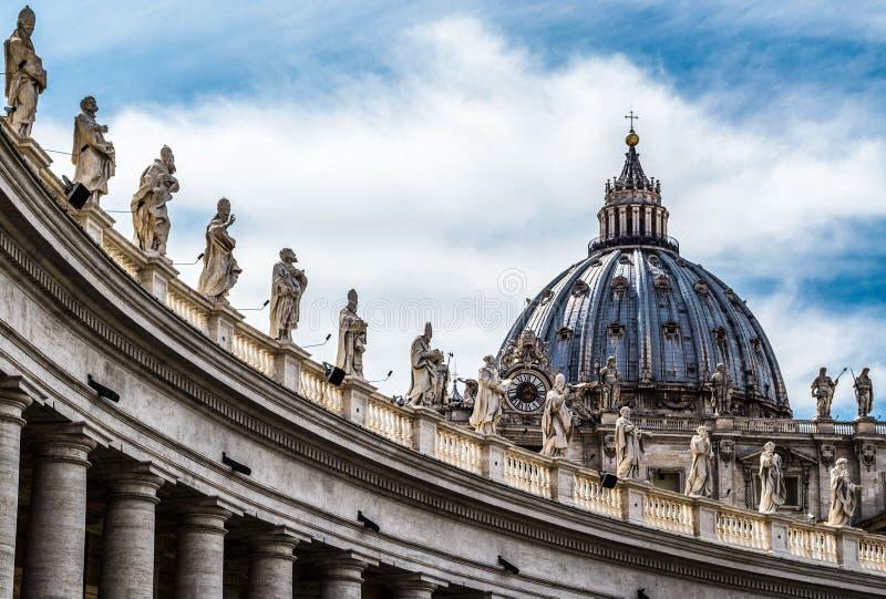 St Peter kathedraal, de Stad van Vatikaan stock fotografie