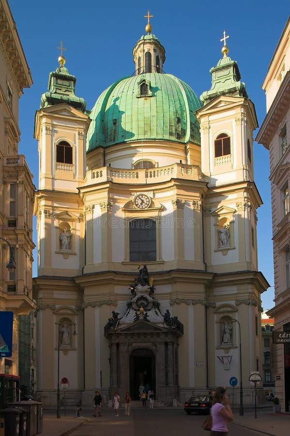 St. Peter Kathedraal in Wenen stock fotografie
