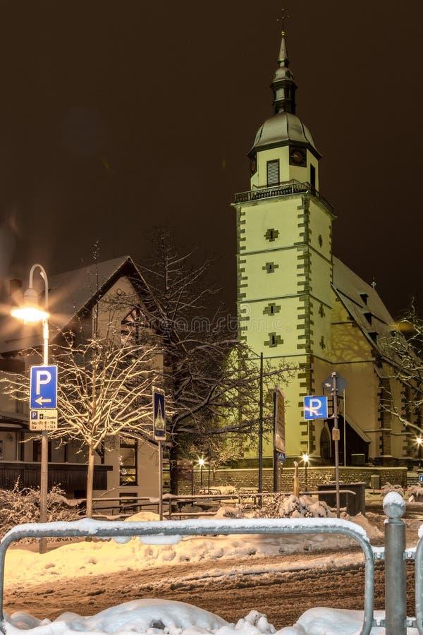 St Peter Kerk, Weilheim een der Teck, Duitsland stock fotografie