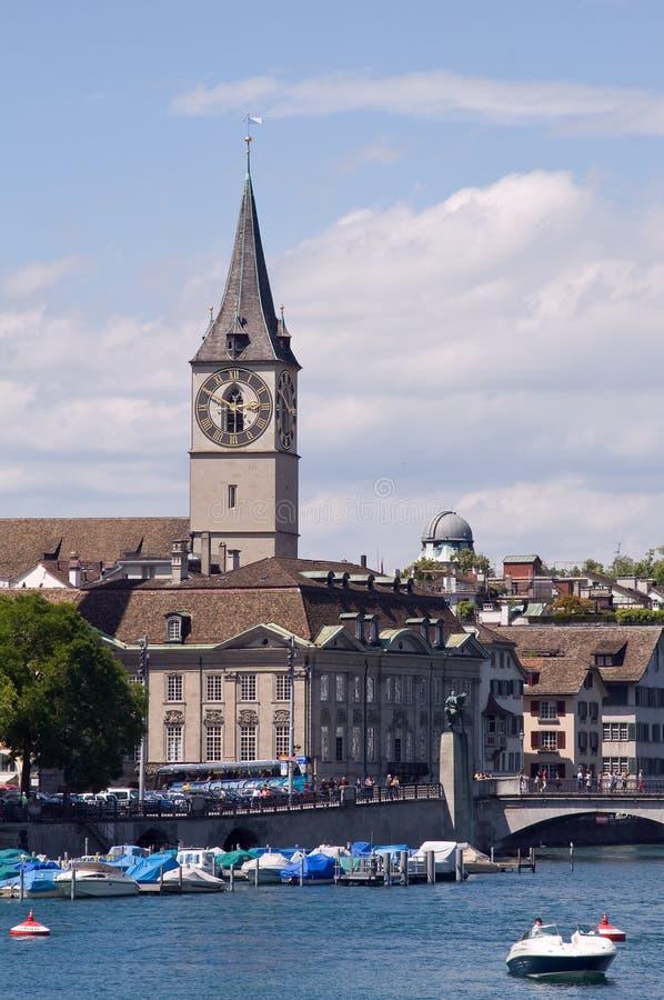 St. Peter kerk in Zürich royalty-vrije stock afbeelding
