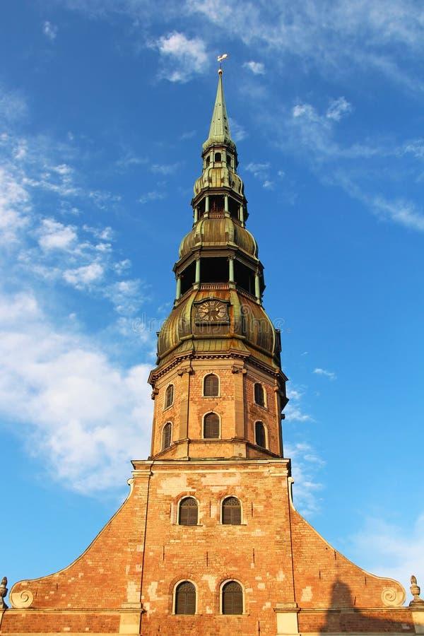 St Peter Kirche, Riga lizenzfreies stockfoto