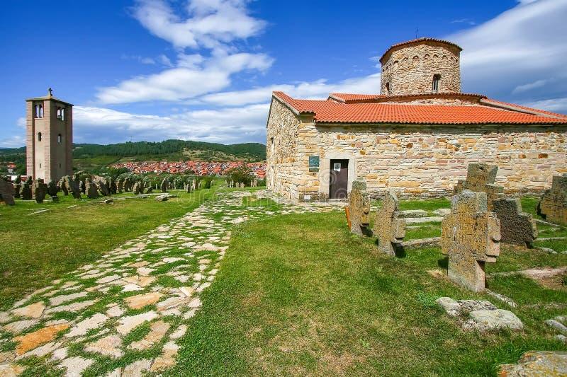 St Peter Kościelny Petrova Crkva, lokalizować blisko miasteczka Novi Pazar Serbia, obrazy stock
