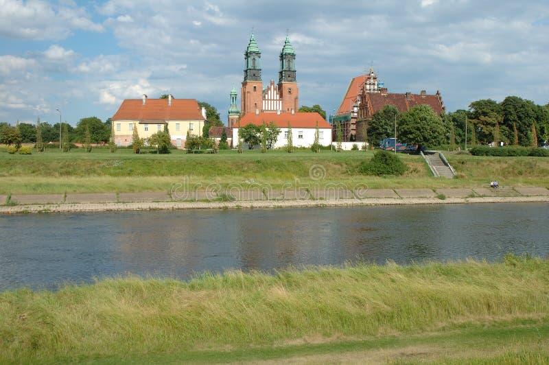 St Peter och Paul Basilica i Poznan, Polen arkivbild