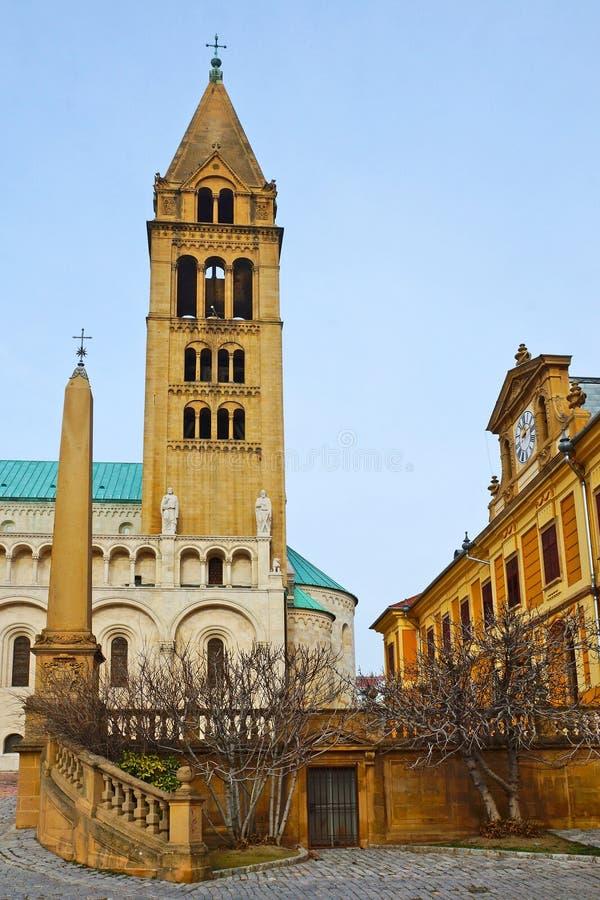 St Peter och St Paul Baisilica, Pecs, Ungern fotografering för bildbyråer