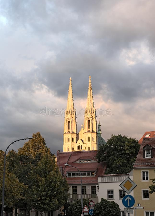 St. Peter and Paul church in Goerlitz, Germany stock image