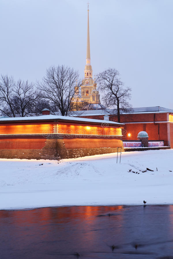 St. Peter and Paul fortress in St. Petersburg, Russia stock photos