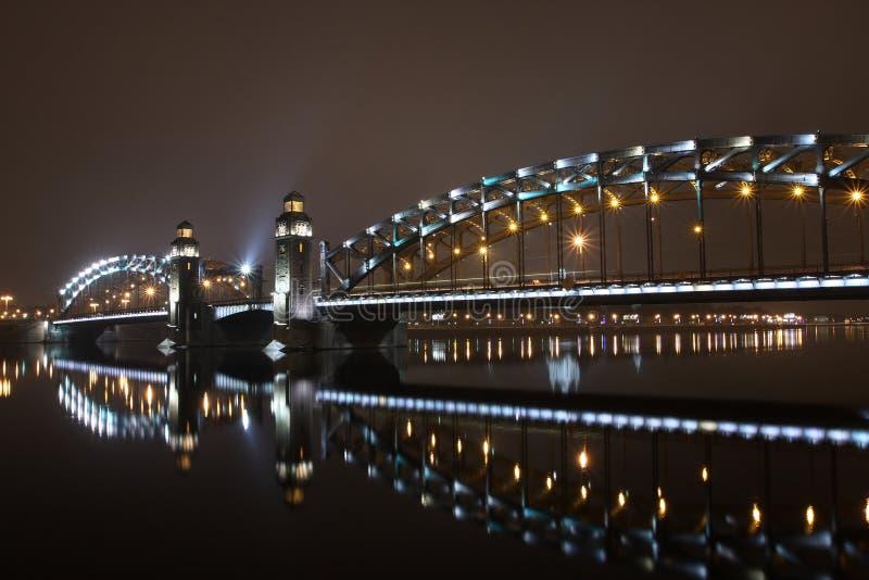 st peter petersburg моста большой стоковое изображение rf