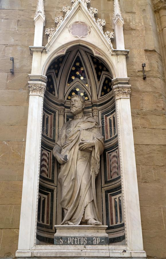 St Peter por Filippo Brunelleschi, igreja de Orsanmichele em Florença fotografia de stock