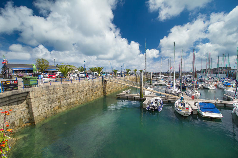 St Peter Port harbour, Guernsey stock image