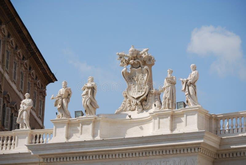 St Peter Quadrat, Vatikanstadt lizenzfreies stockfoto