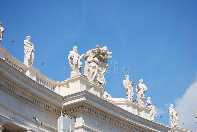 St Peter Quadrat, Vatikanstadt stockfoto