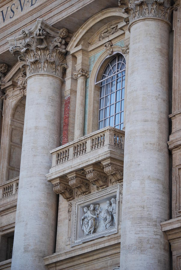 St Peter Quadrat, Vatikanstadt stockbilder