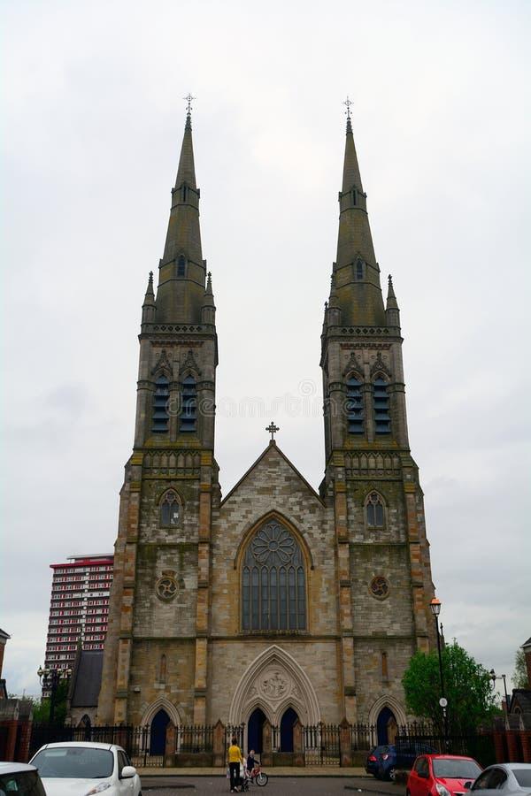 St Peter Roman Catholic Cathedral, Belfast, Noord-Ierland stock foto