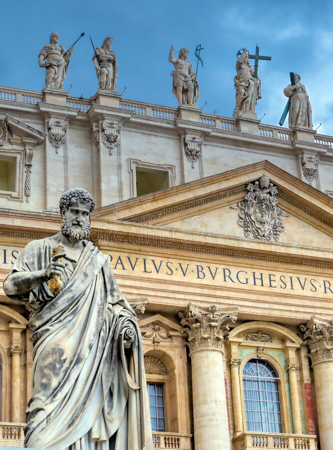 Free St. Peter`s Basilica And St. Peter`s Square Located In Vatican City Royalty Free Stock Photography - 169537007