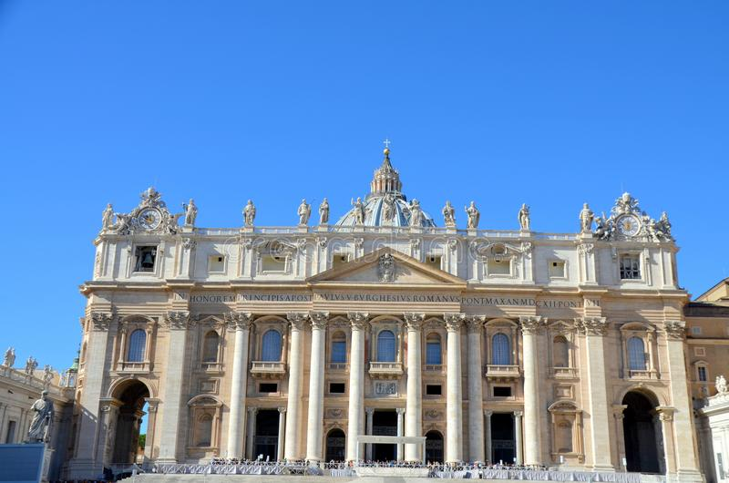 Vatican, Rome, St. Peters Basilica royalty free stock image