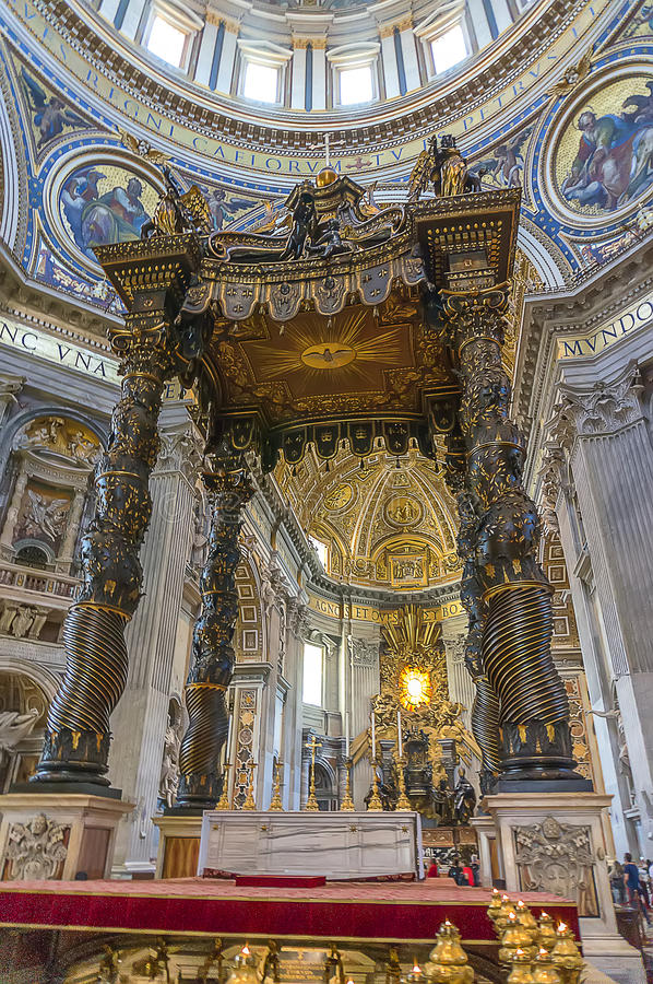 St Peter's Basilica (inside) royalty free stock image