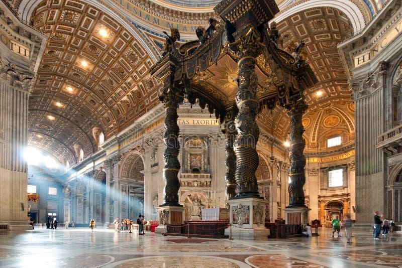 St. Peter's Basilica interior stock photo