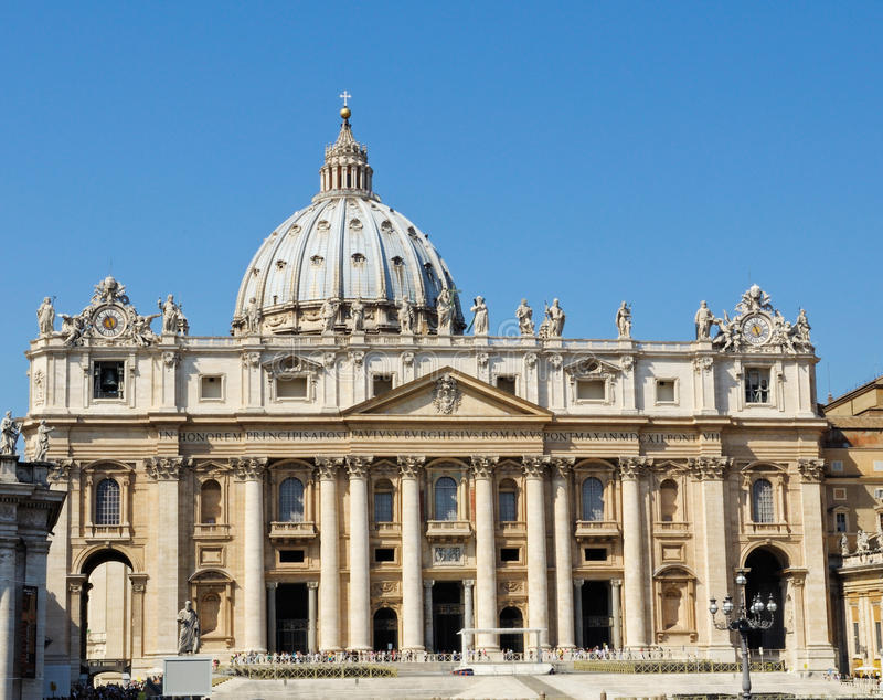 St Peter's Basilica in Rome, Italy stock image