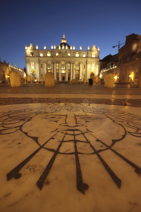 St. Peter s Basilica Vatican City at night stock images