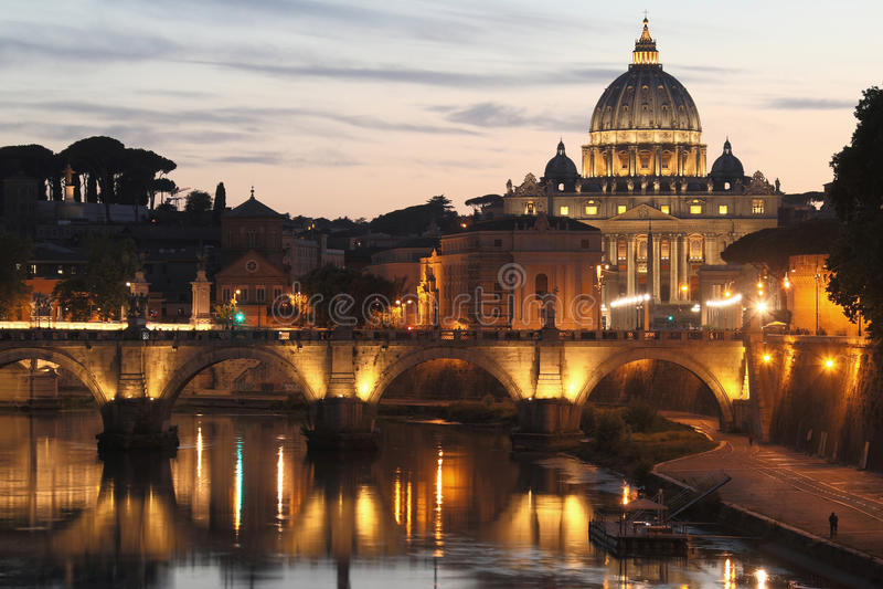 St. Peter`s Basilica - Vatican City - Rome - Italy stock photos