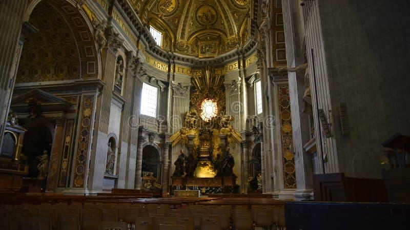 St Peter ` s bazylika w watykanie w Rzym Włochy fotografia stock