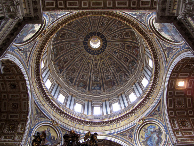 St. Peter's Cathedral Dome royalty free stock photo