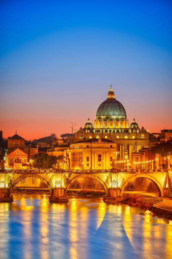 Download St. Peter's Cathedral At Night, Rome Stock Image - Image: 26696277