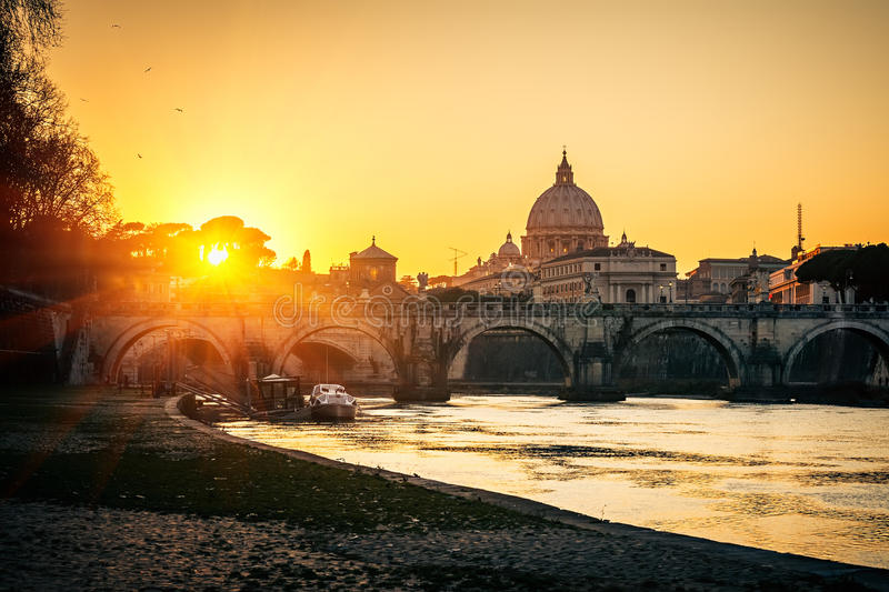Download St. Peter's Cathedral At Sunset, Rome Stock Image - Image: 26369905